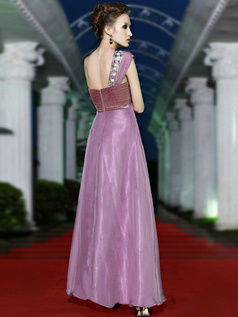 Noble A-line One shoulder Floor-length Sequin Prom/Evening Dresses