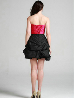 Noble A-line Taffeta Short/Mini Pick-Ups Cocktail Dresses