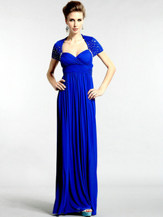 Noble Sheath/Column Chiffon Sweetheart Draped Evening/Prom Dresses