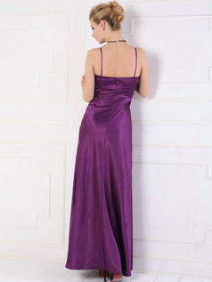 Noble Sheath/Column Spaghetti Straps Ankle-length Evening Dresses