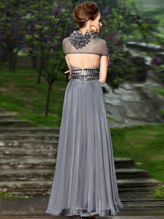 Noble Sheath/Column Sweetheart Floor-length Flower Prom/Evening Dresses