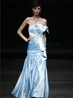 Perfect Mermaid/Trumpet Taffeta Scalloped-edge Sequin Prom/Evening Dresses