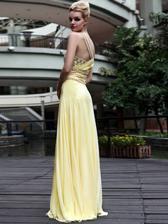 Perfect Sheath/Column One shoulder Floor-length Rhinestone Prom/Evening Dresses