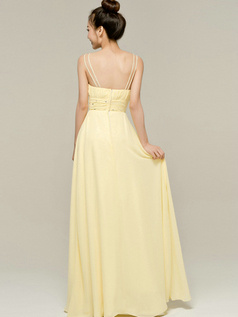 Perfect Sheath/Column Spaghetti Straps Straps Draped Bridesmaid Dresses