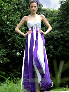 Perfect Sheath/Column Stretch Satin Spaghetti Straps Beading Evening/Prom Dresses