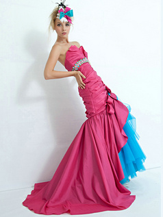 Precious Mermaid/Trumpet Satin Scalloped-edge Prom Dresses