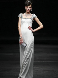 Precious Sheath/Column Chiffon Square Crystal Prom/Evening Dresses