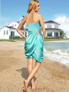 Snazzy Sheath/Column Taffeta Tube Top Short/Mini Prom/Cocktail Dresses
