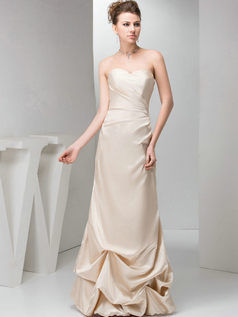 Column Sweetheart Floor-length Taffeta Pick-Ups Evening Dresses