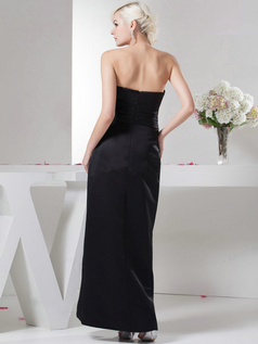 Column Scalloped-edge Floor-length Taffeta Tiered Evening Dresses