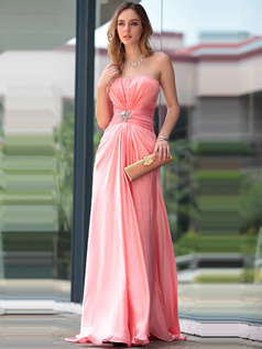 Appealing A-line Sweetheart Sweep/Brush Train Crystal/Rhinestone Evening Dresses