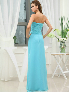 Brilliant Sheath/Column Sweetheart Floor-length Draped Bridesmaid Dresses