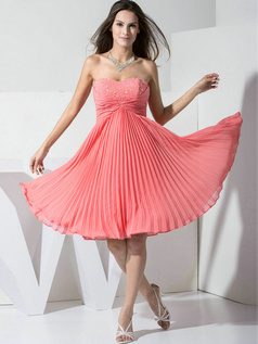 Brilliant A-line Chiffon Sweetheart Beading Prom/Cocktail Dresses