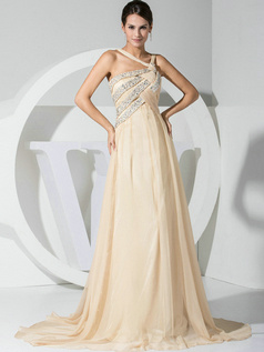 Phenomenal A-line Chiffon Straps Crystal/Rhinestone Evening/Prom Dresses