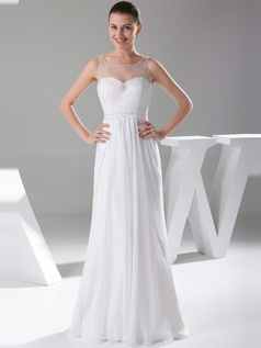 Glorious Sheath/Column Bateau Sweep Draped Bridesmaid Dresses