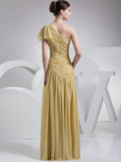 Fabulous A-Line One shoulder Floor-length Sequin Evening Dresses