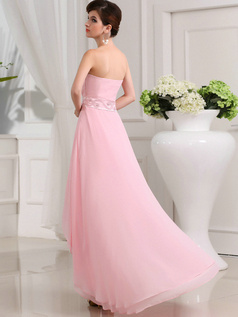 Beautiful A-line Chiffon Sweetheart Asymmetrical Train Prom Dresses