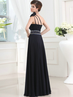 Amazing Sheath/Column Chiffon Floor-length Flower Evening Dresses