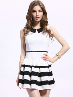 A-line Round Brought Mini Cotton Blended Draped Homecoming Dresses