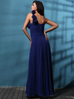 Phenomenal Sheath/Column One shoulder Floor-length Draped Evening Dresses
