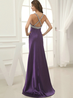 Fantastic Sheath/Column V-neck Sweep Split Front Prom Dresses