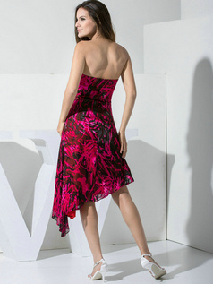 Precious A-line Elastic Silk-like Satin Tube Top Pattern/Print Prom/Cocktail Dresses