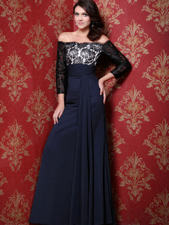 Stunning Sheath/Column Chiffon Off-the-shoulder Evening Dresses