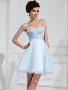 Adorable Princess Organza Sweetheart Short/Mini Sweet 16 Dresses