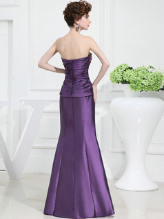 Outstanding Mermaid/Trumpet Taffeta Floor-length Beading Prom Dresses With 3/4 Length Sleeve Jacket
