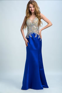 Sleeveless Hourglass Outlien Sexy Backless Beading Natural Waist Floor-length Prom Dress