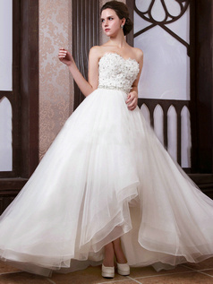 Intelligent Ball Gown Sweetheart Floor-length Flower Wedding Dresses