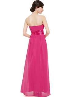 Empire Waist Bowtie Strapless Evening Dress