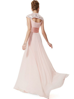Women's Chiffon Empire-Waist Evening Gown