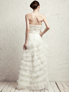 Glamorous Princess Tulle Floor-length Tiered Wedding Dresses