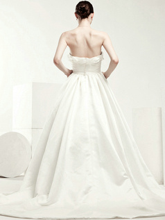 Gorgeous Ball Gown Taffeta Cathedral Train Flower Wedding Dresses