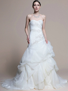 Gorgeous Princess Sweetheart Cathedral Train Pick-Ups Wedding Dresses