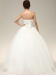 Graceful Ball Gown Sweetheart Crystal Rhinestone Wedding Dresses