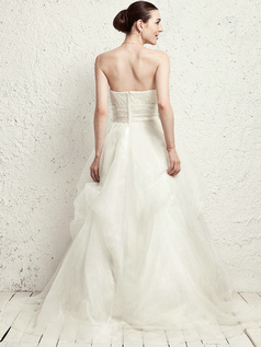 Happiness Princess Tube Top Sweep Pick-Ups Wedding Dresses