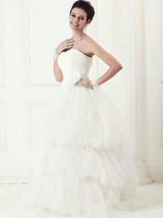 Lovely Princess Tulle Tube Top Pick-Ups Wedding Dresses