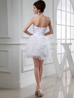 Gorgeous Princess Organza Sweetheart Cascading Ruffle Wedding Dresses