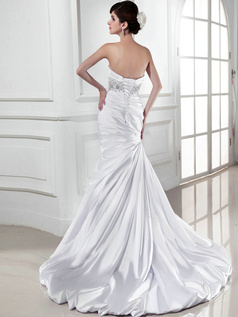Astonishing Over Hip Satin Sweetheart Tiered Wedding Dresses