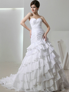 Appealing Over Hip Taffeta Sweetheart Rhinestone Wedding Dresses