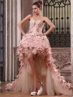 Spectacular Princess Tulle Sweetheart Asymmetrical Train Wedding Dresses