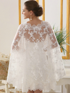 Brilliant Lace Round Brought Wedding Shawl/Wedding Wrap