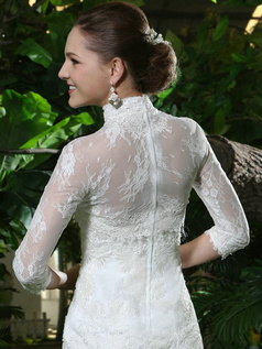 Appealing Lace High neck Bridal Jacket/Wedding Wrap