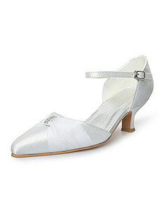 Stiletto Heel Closed-Toe Wedding Shoes With Ribbon