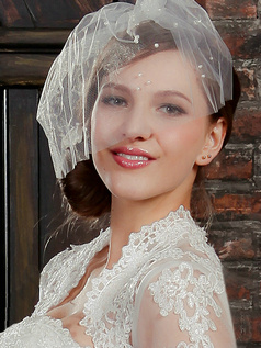Single Layer Tulle Fascinator Cut Edge Wedding Veil