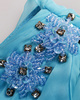 Column One Shoulder Ankle-length Chiffon Crystal Sequin Blue Bridesmaid Dresses