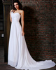 Remarkable A-Line Chiffon Court Train Sashes/Ribbons Evening Dresses