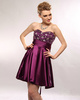 Fabulous A-line Stretch Satin Short/Mini Sequin Cocktail/Homecoming Dresses Size 2 And Size 4